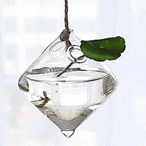 Vaso de Vidro Pendente Losango