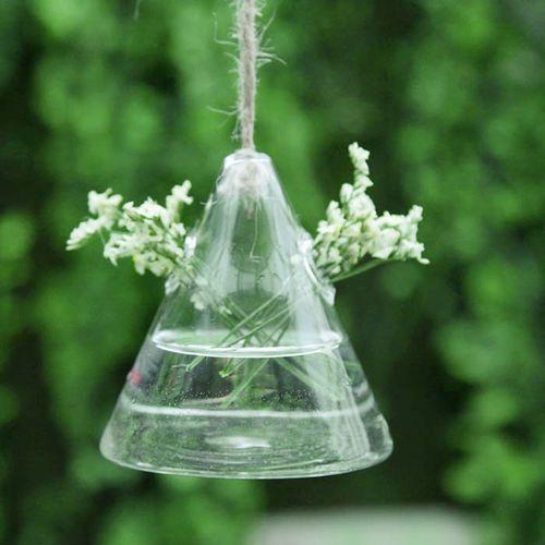 Vaso de Vidro Pendente Triangulo Para Flores