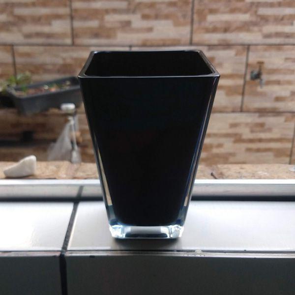 Vaso de Vidro Quad Preto