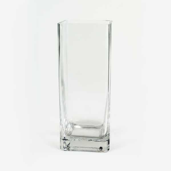 Vaso de Vidro Quadrado 10 X 30