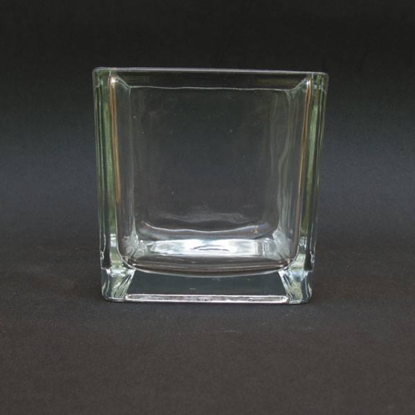 Vaso de Vidro Quadrado 10x10