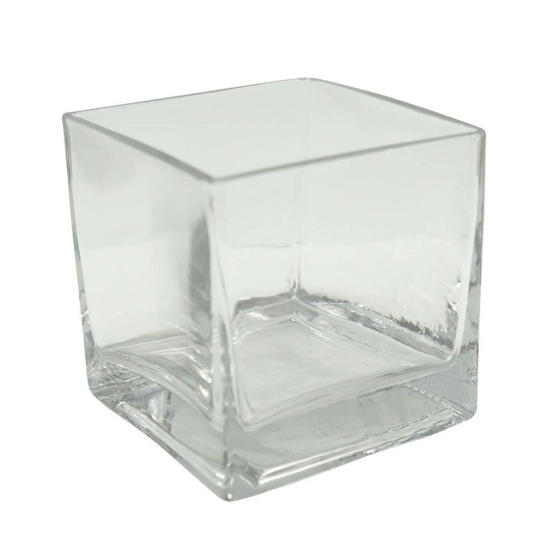 Vaso de Vidro Quadrado 12x12