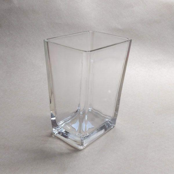 Vaso de Vidro Retangular
