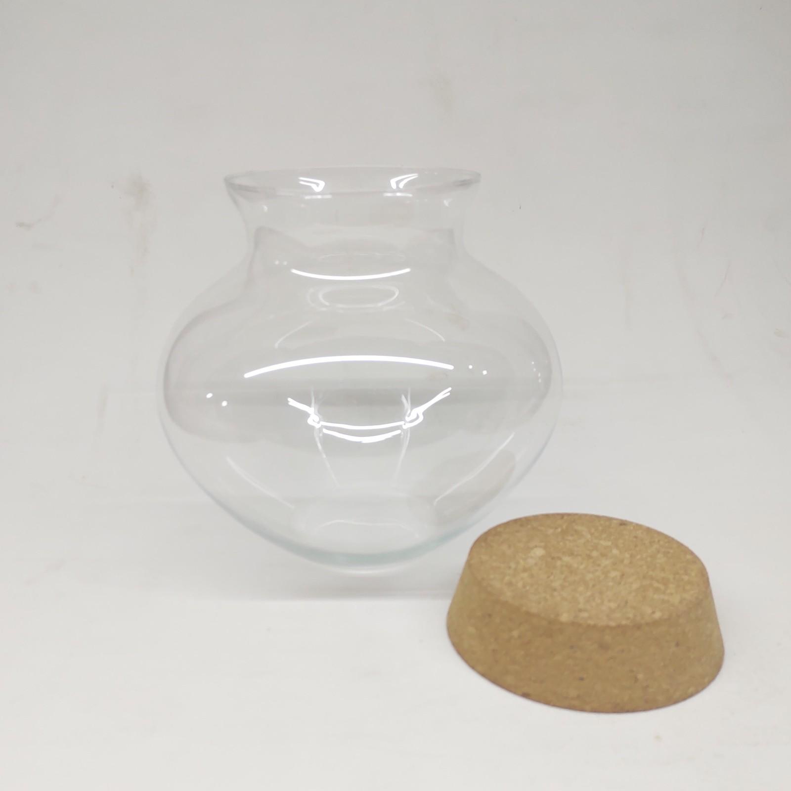 Vaso de Vidro Tókio Com Rolha