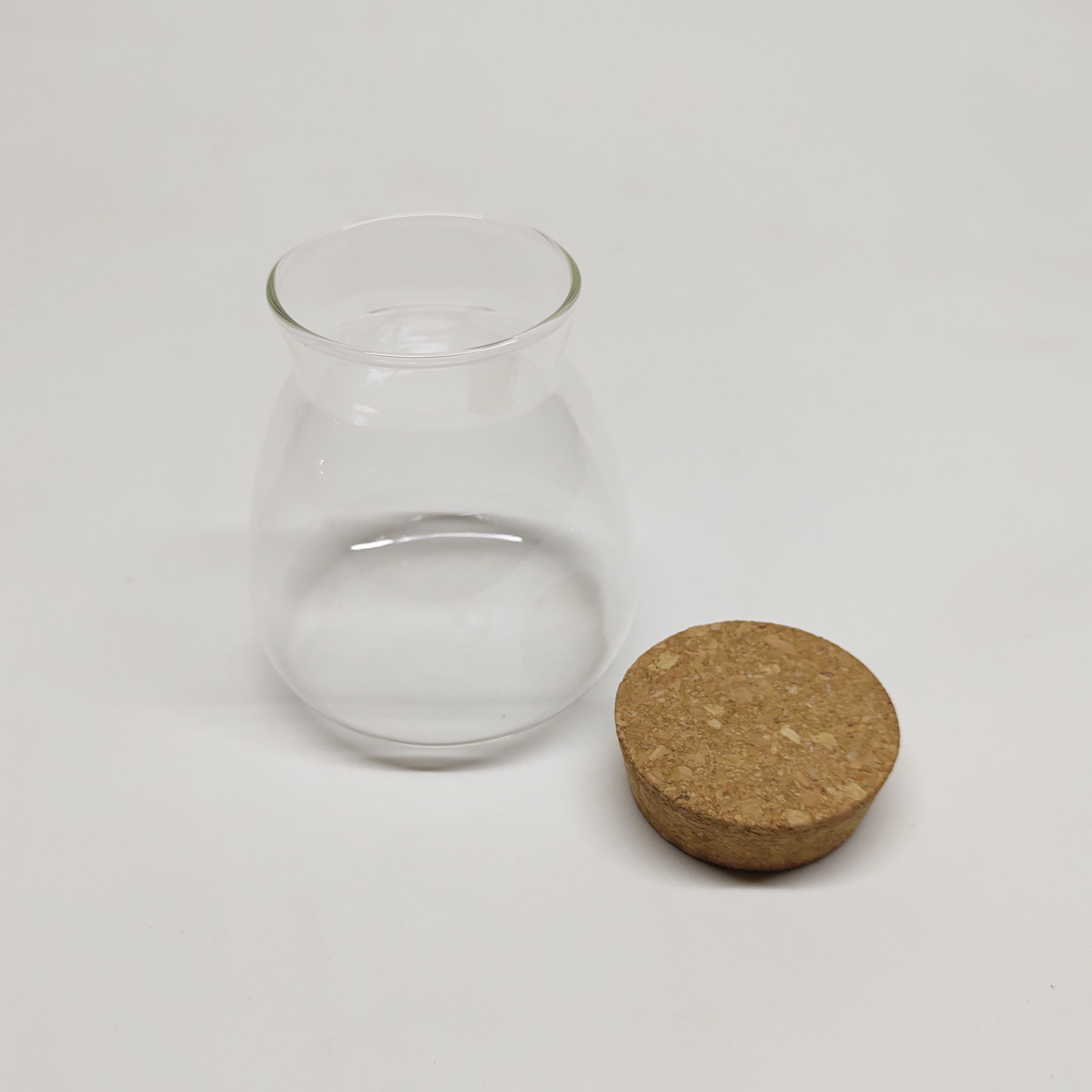 Vaso de Vidro Triangulo Para Terrário Com Rolha