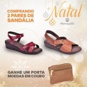 COMPRANDO 2 PARES DE SANDÁLIAS, GANHE UM PORTA MOEDAS EM COURO