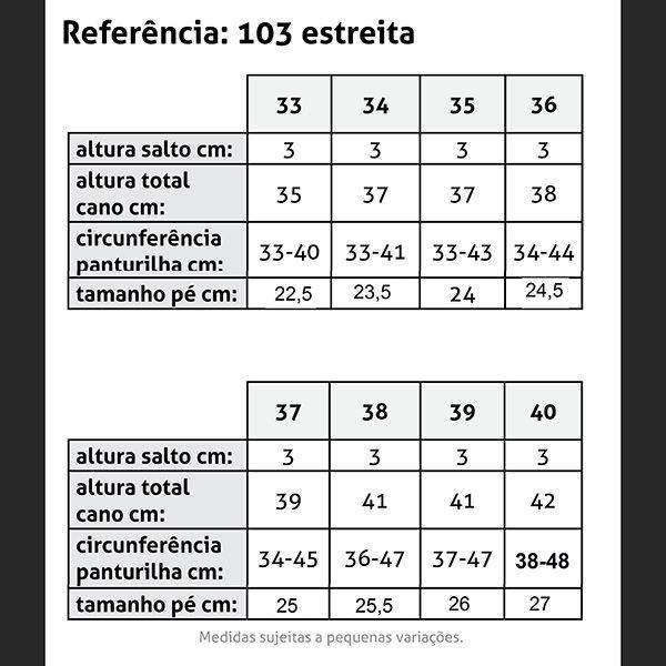 BOTA NEVE FEMININA FRIO INTENSO - FORRADA LA NATURAL - CANO ESTREITO