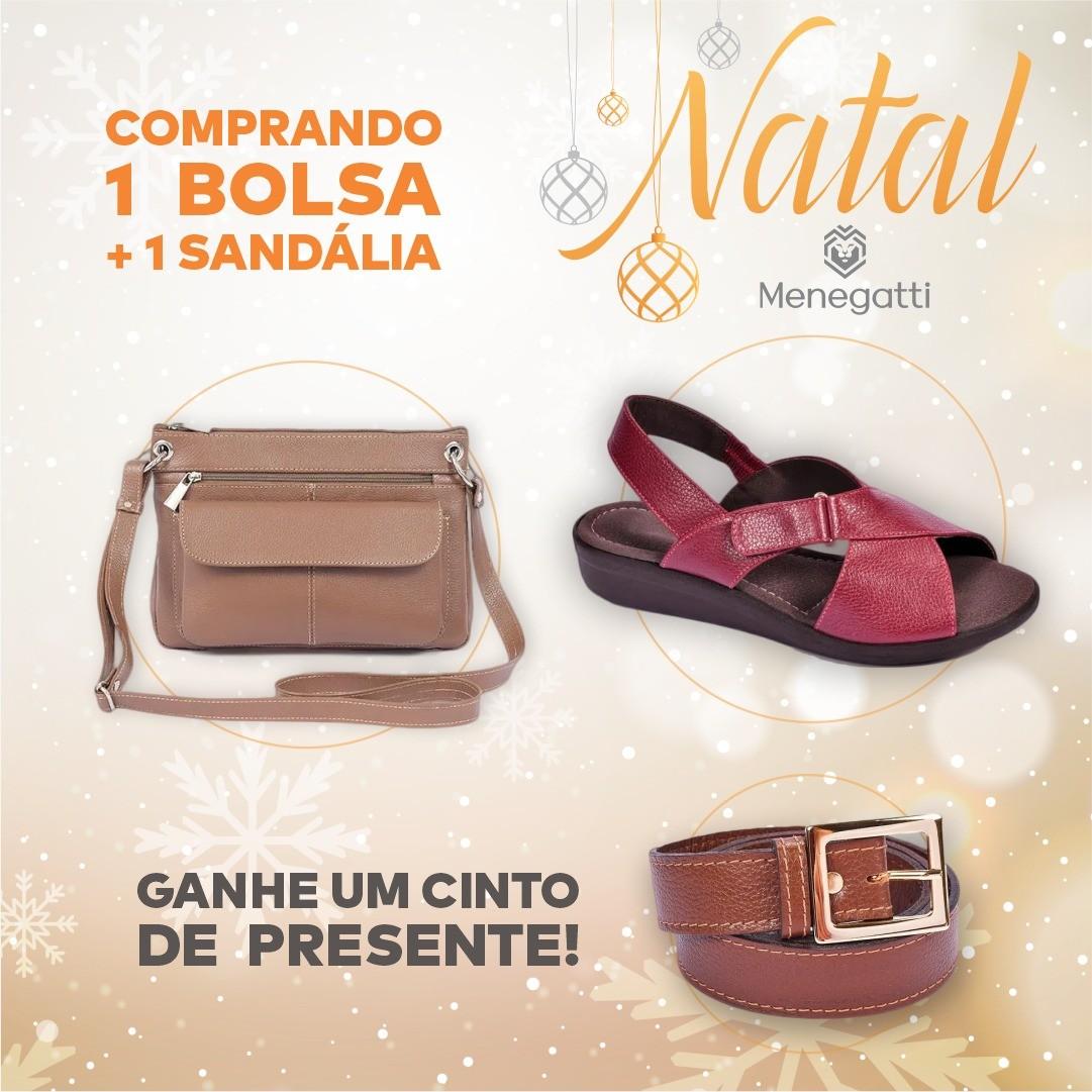 SANDÁLIA + BOLSA = CINTO DE PRESENTE