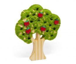 Brinquedo de madeira Alinhavo Árvore Macieira, da Pachu - Cód. P-01