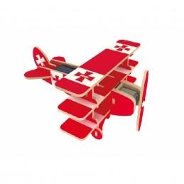 Brinquedo de madeira - Avião Solar Triplano, da Kuga - Cód. P505S