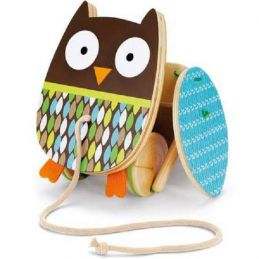 Brinquedo de Madeira - Corujinha de Puxar, da Skip Hop