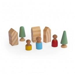 Brinquedo de madeira - Vilarejo, da Lume - Cód. LM-80