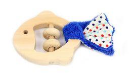 Brinquedo de madeira e tecido Brinquedos Sensoriais - Peixe, da Lume - Cód. LM-70.