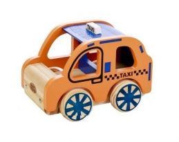 Coleção Carrinhos de Madeira - Táxi, da NewArt - Cód. 349