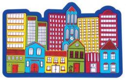 Brinquedo de madeira Quebra-Cabeça Urbano, da NewArt - Cód. 307