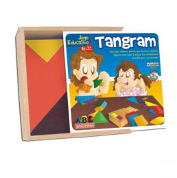 Brinquedo de madeira Tangram, da ABC Brinquedos - Cód. 2008