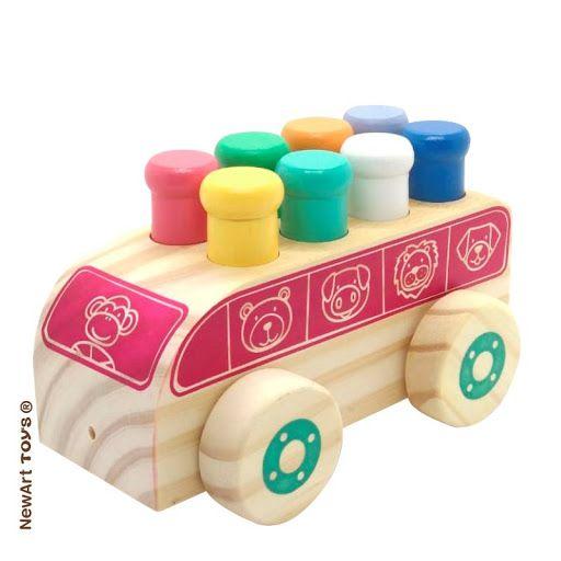 Carrinho de madeira Bondindinho, da NewArt - Cód. 201