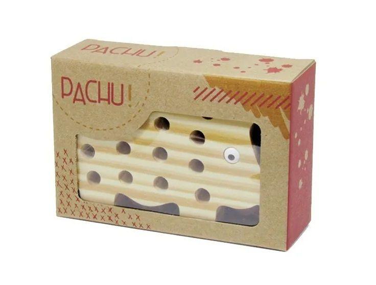 Brinquedo de madeira Alinhavo Porquinha Lola, da Pachu - Cód. P-08