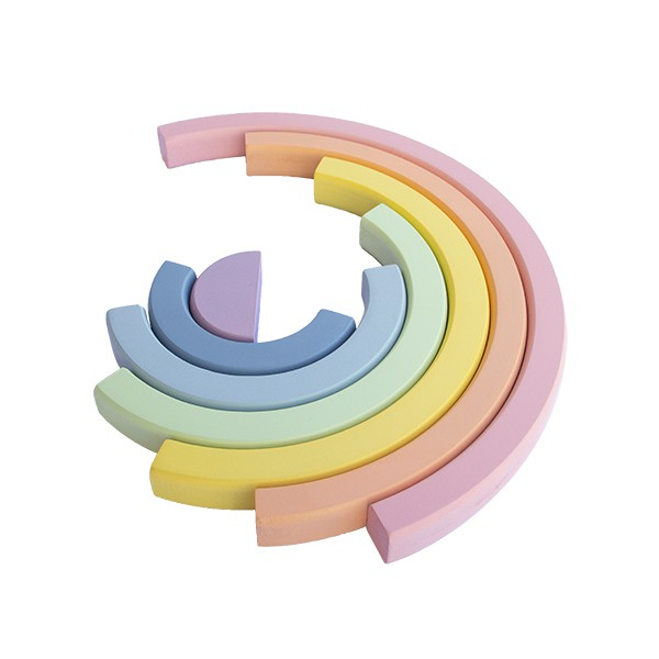 Brinquedo de madeira Arco-íris Candy, da Fábrika dos Sonhos - Cód. FS15