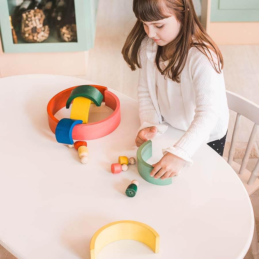 Brinquedo de madeira - Arco-íris Pessoas, da Lume - Cód. LM-91