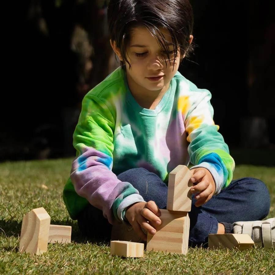 Brinquedo de madeira - Casas, da Lume - Cód. LM-81