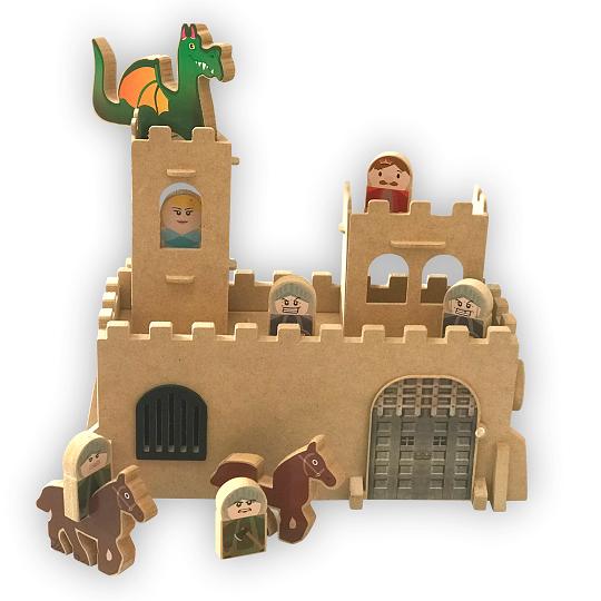Brinquedo de madeira Castelo Medieval, da Top Toy - Cód. Top-152