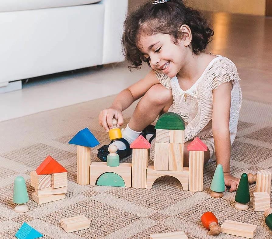 Brinquedo de madeira - Cidadela, da Lume - Cód. LM-93