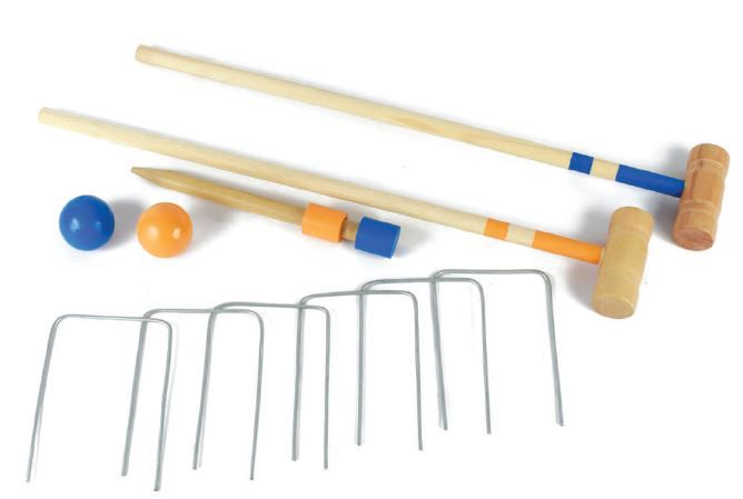 Brinquedo de madeira Croquet, da NewArt - Cód. 259