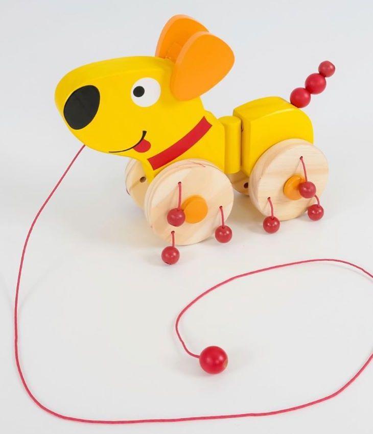 Brinquedo de madeira de Puxar Tóbi, da NewArt - Cód. 176