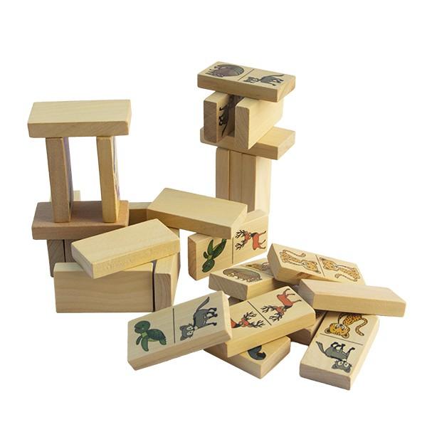 Brinquedo de madeira Dominó - Animais Brasileiros em Extinção, da Fábrika dos Sonhos - Cód. FS46