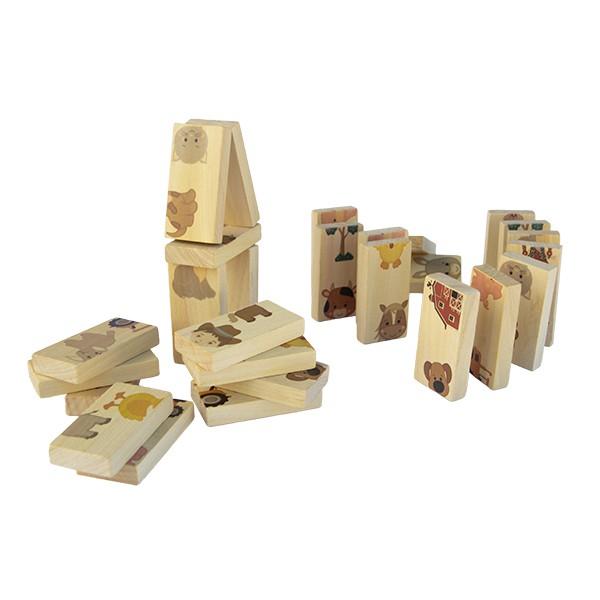 Brinquedo de madeira Dominó - Fazendinha, da Fábrika dos Sonhos - Cód. FS44