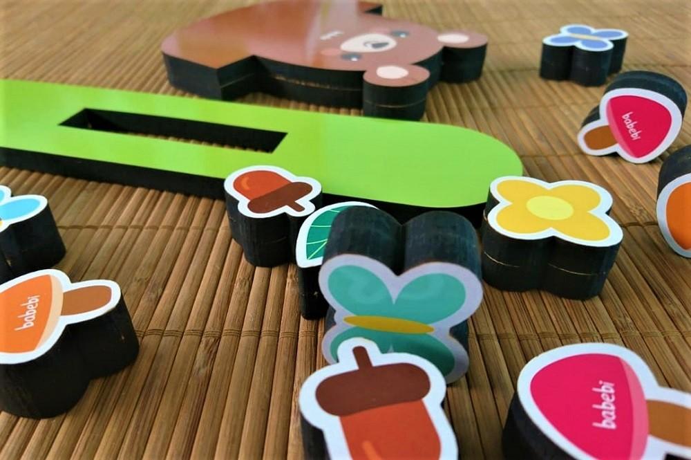 Brinquedo de madeira Equilibre o Ursinho, da BaBeBi - Cód. 6044