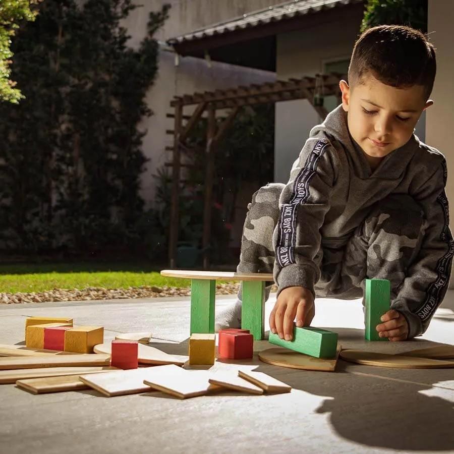 Brinquedo de madeira - Formas, da Lume - Cód. LM-92