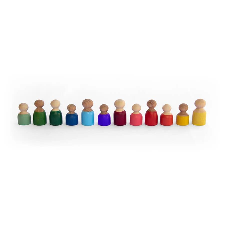 Brinquedo de madeira - Pessoas, da Lume - Cód. LM-82