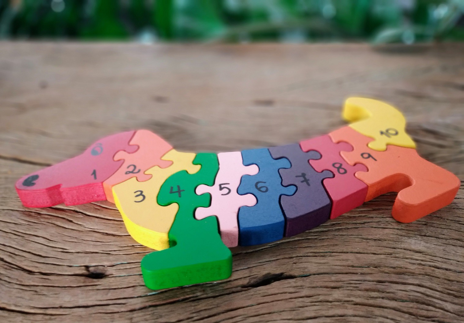 Brinquedo de madeira Quebra-cabeça com Números - Cachorro, da Fábrika dos Sonhos - Cód. FS01