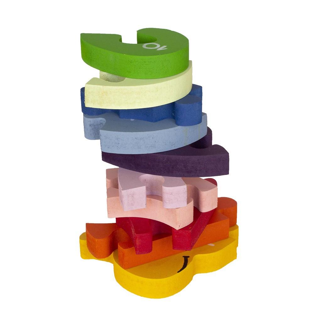 Brinquedo de madeira Quebra-cabeça com Números Caracol, da Fábrika dos Sonhos - Cód. FS04
