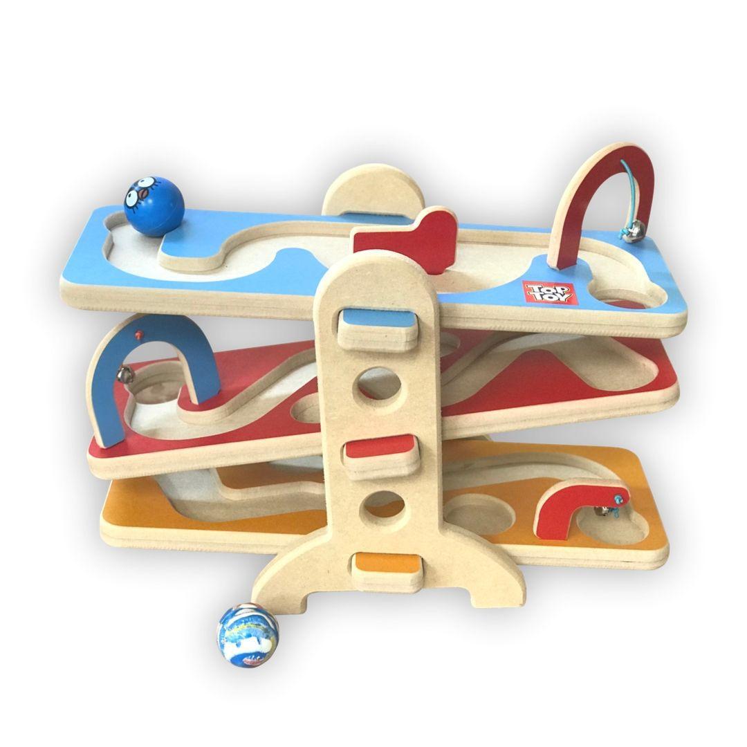Brinquedo de madeira Rola Bolinha, da Top Toy - Cód. Top-171