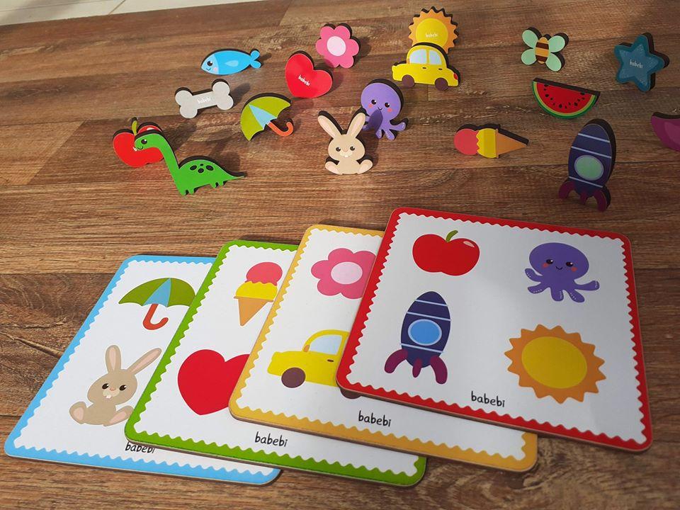 Brinquedo de madeira Toque e Encontre, da BaBeBi - Cód. 6041