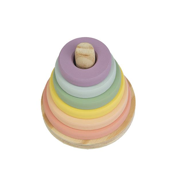 Torre de Donuts Candy, de Madeira, da Fábrika dos Sonhos - Cód. FS70
