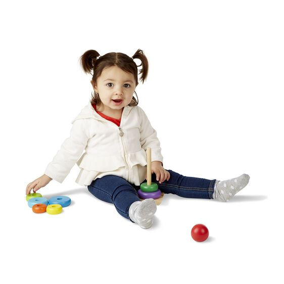 Brinquedo Educativo - Empilhador de Anéis de Madeira, da Melissa & Doug - Cód. 95000