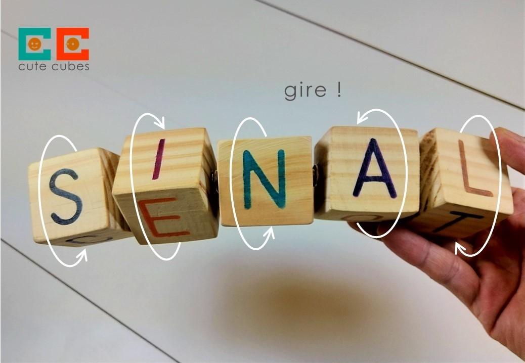 Jogo Pedagógico de Madeira - 7 Cubos LigaLetras, da Cute Cubes - Cód. CC407