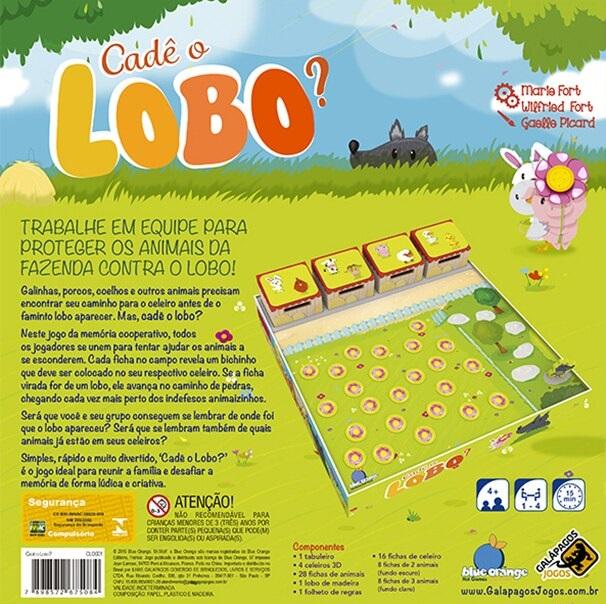 Cadê o Lobo, da Galápagos - Cód. CLO001
