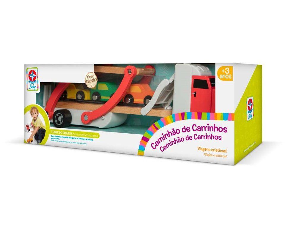 Caminhão de Carrinhos de Madeira, da Estrela - Cód. E029