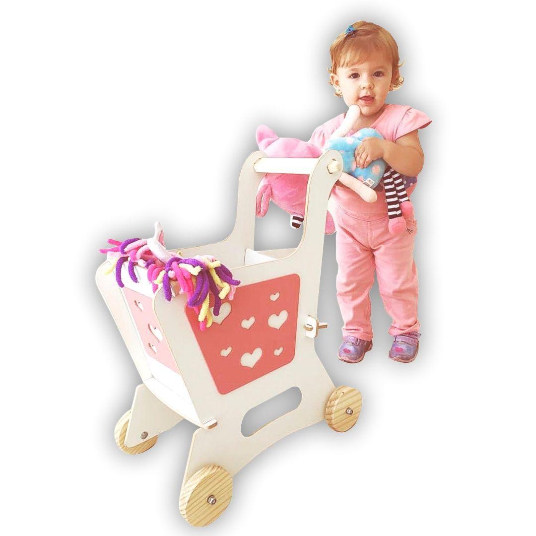 Carrinho de Supermercado Rosa, da Top Toy - Cód. Top-102