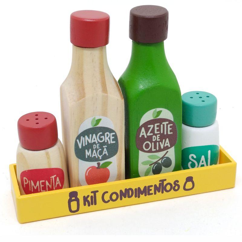 Coleção Comidinhas - Kit Condimentos, da NewArt - Cód. 401