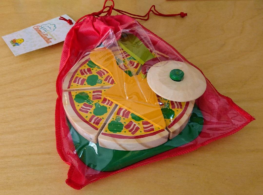Coleção Comidinhas - Kit Pizza + acessórios, da NewArt - Cód. 390