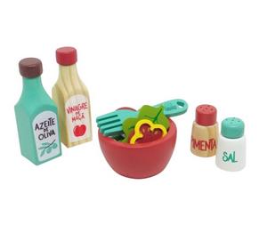 Coleção Comidinhas - Kit Salada, da NewArt - Cód. 398