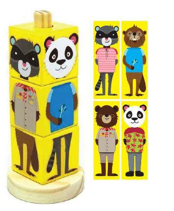 Coleção Cubos Animais - Azul, Verde ou Amarelo, da NewArt - Cód. 620