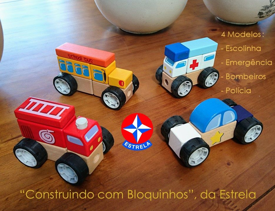 Construindo com Bloquinhos de Madeira - Bombeiros, da Estrela - Cód. E021