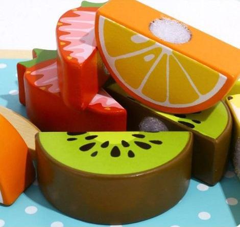 Cortando Frutas, de Madeira, da Tooky Toy - Cód. TL142